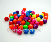 Wholesale 400pcs Mixed Matte Fluorescent Neon Acrylic Round spacer findings Loose beads charms MM
