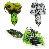 Soft Baits Ocean Beach Fishing Yes Free shipping Soft fishing lure HF40 Frog plastic lure fishing tackle 7g Hook Size:2 0 Topwater fishing lure wholesale 3pcs lot