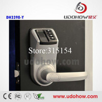 DH-3398Y Yes Silver or golden ADEL 3398 furniture lock biometric fingerprint password safe for home