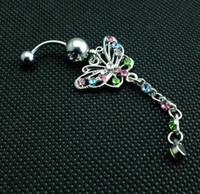 belly piercing price - 0190 Nice style piercing jewelry navel belly ring CLEAR color stone drop shipping factory price