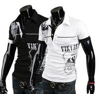 Women Scoop Neck Regular Free shipping! 2014 new men's casual short-sleeved polo shirt embroidered T-shirt T-shirt Slim lapel men M L XL XXL