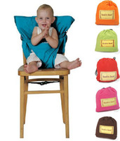 cloth baby chair - Fedex EMS DHL Ship New Portable Baby Kids High Chair Belt Seat Infant Safety Comfortable Easy To Carry Baby Eat chair Seat belt Colors