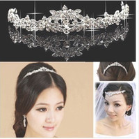 Tiaras&Crowns Rhinestone/Crystal  Glittering Wedding Bridal Jewelry Hair Accessories Crowns Crystal Rhinestone Beaded Wedding Dress Accessory Tiara A297