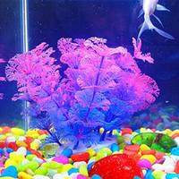 Wholesale Plastic Artificial Underwater Plant Flower Docration For Fish Tank Aquarium Decor Ornament New