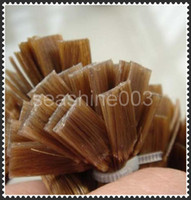 "Brazilian Hair #1#1b#2#4#6#8#12#27#33#60#613 Straight Big Discount!!Queen Hair Flat Tip Human Hair Extension 18""-28"" in stock, Pre-bonded Hair Extension Top Quality 300pcs lot, Free Shipping"