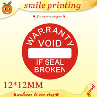 Wholesale Warranty sealing label sticker void if seal broken diameter cm