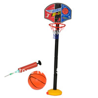 Birth to 24 Months Unisex Basketball 2014 New Baby Children Sports Toys Set Basketball Stands with Tie Pump Outdoor & Indoor Toy Drop Shipping 115cm 1-3 Years 6853