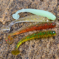 Wholesale Magic Fish cm0 g Soft Bait Super Fishing Worm Lure Colors Freeshipping
