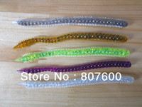 Soft Baits Artificial Bait Multi Freshwater Plastic Soft Lure Worm 130mm 3.6g 50 pcs lot