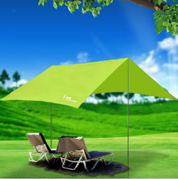 Wholesale Outdoor shade canopy rain UV beach tent camping tent silvering account pergola multifunction portable tent a270