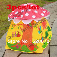 Tents Animes & Cartoons PVC 3pcs lot Free shipping New Baby toys Sweet Children Kids Tent Indoor&Outdoor Eco-Friendly Colorful Play House Tents 11923