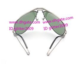 2017 lentes polarizadas Nueva Plegable Gafas de sol de Espejo para hombre gafas de Gafas de sol de Moda de Cristal de la lente de gafas de sol para mujer Espejo Plegable gafas de glitter2009 lentes polarizadas Rebaja