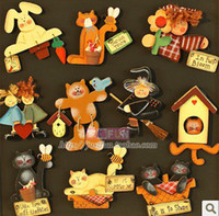 Wholesale colored drawing fashion refrigerator stickers magnets home decoration