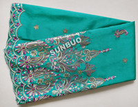 Blend aqua clothing - Aqua Yards African George Clothing Swiss Voile Lace Sequin African Lace Fabric