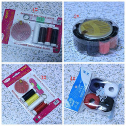 Wholesale Hot Sewing Supplies Sewing Box Sewing Kit thimble Needle Devices z127