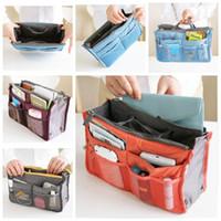 Wholesale Factory Sale Makeup Bag Purse Cosmetic MP3 Mp4 Phone Storage Organizer Sundry Bags Cosmetics Bags Multi Two Zipper Bag