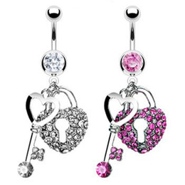 Wholesale 0024 The key and lock styles Belly Button Navel belly Rings with mix colors prices belly ring