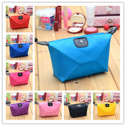 Wholesale Candy Color Women Senior Waterproof Nylon Lady s Cosmetic Organizer Bag Cosmetic Bag cm