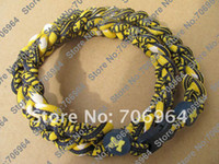 Wholesale Titanium Necklaces Michigan Wolverines West Virginia Ropes Triple US Football Necklace No packaging only necklace