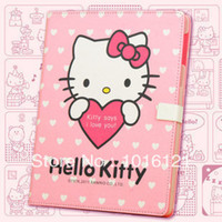 Wholesale Case for ipad fashion hello stand luxury leather kitty new laptop amp tablet accessories cover for bulk