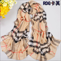 Chiffon Rectangle 150cm-175cm 2014 free shippingIncrease the money spring and summer silk yarn beach towel women feel plaid cashmere scarf shawl chiffon scarf