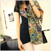 Cheap 2014 free shipping2012 new winter wagon wheel pattern scarf velvet chiffon scarf scarves shawls women in Europe and America to increase
