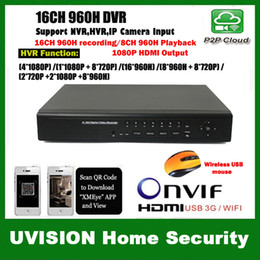 Wholesale 16ch Full H D1 H Real time Recording playback HDMI P Output ch Hybrid dvr NVR Onvif CCTV DVR Recorder