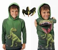 Wholesale New Arrival Hot Children Dinosaur Dino Hoodie boy cartoon sweater pullover Children s Outerwear