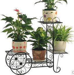 Wholesale FREESHIPPING NEW Flower Pot Plant Shelf Stand Wrought Iron Planter Shelves Country Style