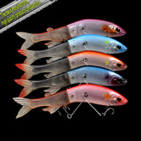 Soft Baits Ocean Boat Fishing Yes Free Shipping Fishing lure,Jerk Baits Joint Live Eel(190mm 40g) fishing lure china Hooks-10pcs 5color
