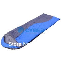 Wholesale Hot Sale Blue Sleeping Bag Waterproof Cotton Envelope Hooded Outdoor Camping Sleeping Bag Adult