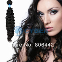 Wholesale 1pcs Women s Girls Indian Deep Wave Curly Remy Virgin Human Hair Extensions Size