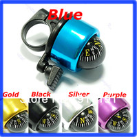 D0369-1 without original packing black/blue/silver/gold/purple Free Shipping 2pcs lot Bicycle Bell Ring,Metal Bell Ring,Metal Bell Ring Compass For Bike Bicycle