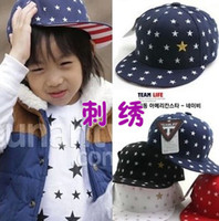 Wholesale The same paragraph pentagram children boys and girls baseball cap flat cap spring models Kimi