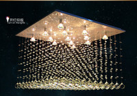 Cheap Modern Square Chandeliers Best Hotel 15 ~ 20sq.m Crystal PndentLamp