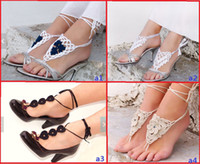Casual/Sport barefoot yoga - 2014 summer barefoot sandals Victorian Sexy Lolita Yoga beautiful flowers anklets Dance Steampunk baby wear sale china pair