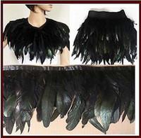 Wholesale 100CM AB Black Color Feather Boa DIY Wrap Cape Shawl Poncho Skirt Stole cm