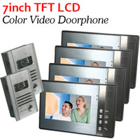 video door entry system - Home Security in2 LCD Monitor Color Video Door Phone Entry Intercom System Bell