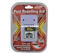 Flies Traps Eco Friendly Free Shipping Ultrasonic Electronic Riddex Pest Repeller Rodent Control Aid Killer Ant Mosquito Repelling Plus110 220V
