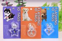 Wholesale 6 kind Shape Pet Dog Cat Led Pendant Tag Safety Light Glow Light Up Collar Flasher Blinker colors