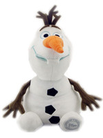 Wholesale New Cute Olaf Plush Snow Man Toys doll Cartoon SHORT FLOSS PP Cotton Inches