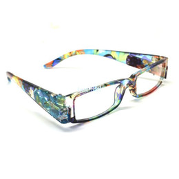 Wholesale hot selling goods glasses Strength Black Fashion Plastic LED Light Glasses wholesales