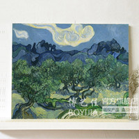 Wholesale hand painted large oil painting Oil methos fashion decorative olive tree