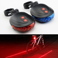 Wholesale Bicycle Bike Laser Light Cycling Safety Led Lamp Bike Lamp Bicycle Bike Rear Tail Light Laser LED DHL for