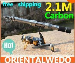 Caña de pescar en venta en Línea-caña de pescar cañas de pescar cebo de carbono varilla telescópica hilado pesca Pesca Poder polo abordan herramienta de la venta caliente del envío libre