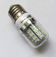 Corn ac costs - Christmas promotion W SMD3014 E27 Corn Light v v AC DC white warm white led light Cost Price