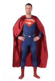 Wholesale Treasure box New Mens Superman Costume Halloween cosplay costumes