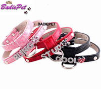 Wholesale DIY Name Personalized Dog Harness Croc PU Leather Dog Pet Harness Pet Product Pet Supplies Price exclude sliders