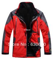 Wholesale winter Outdoor Climbing clothes fashion two piece men sports coat waterproof men s skiing jacket