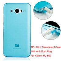 al por mayor xiao mi m2-Cubierta protectora suave delgada del caso trasero del silicón TPU para Xiao Mi 2 Xiaomi M2